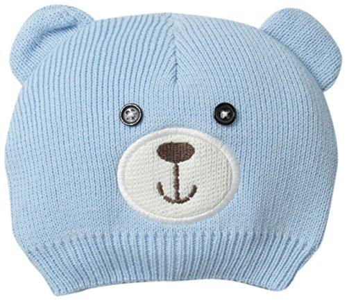 Little Me Baby Boys' Knit Bear Critter Hat, Light Blue, 0-12 (Boys Bear)