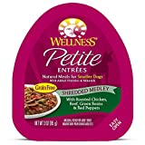 Wellness Petite Entrees Shredded Medley Grain Free Natural Wet Small Breed Dog Food, Roasted Chicken & Beef, 3-Ounce Cup (Pack Of 24)