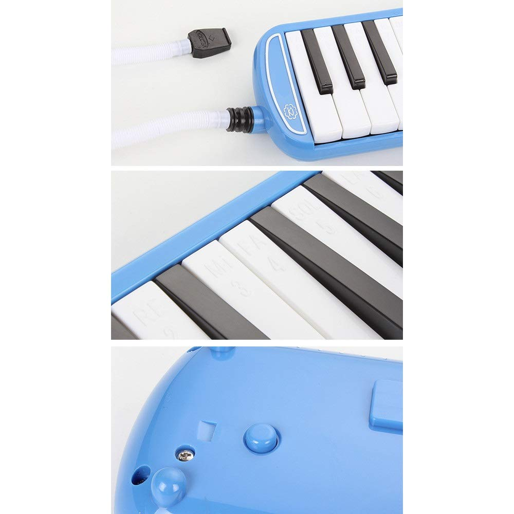 Melodica Musical Instrument 32 Keys Pianica Melodica With Portable Carrying Bag Kids Musical Instrument Gift Toys For Music Lovers Beginners Mouthpieces Tube Sets Black Blue Pink For Music Lovers Begi by Kindlov-mus (Image #3)