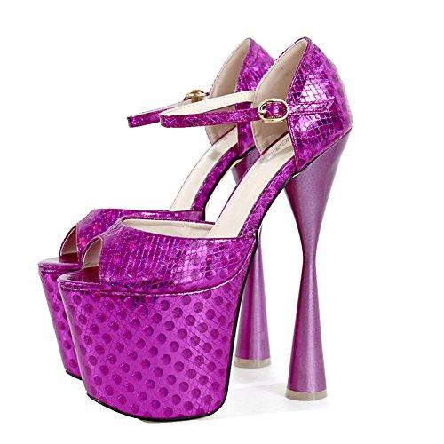 Pump Super Wedding Heel Platform Women's Toe 1279 Extreme Block High Shoes Peep Rose HTwqnxw4
