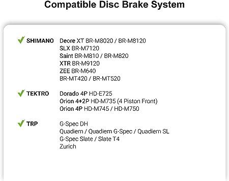 Shimano D03S Brake Pads 4 Piston Compatible with Deore XT SLX Saint Zee