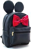 Mochila Minnie Mouse con Orejas y Moño 3212 Negro Imitación piel BJX Bajío Fashion 27x24x12cm.