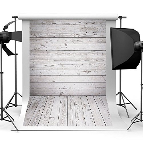 Qintec Wood Backdrops Wooden Background Backdrops for Photography Videos Studio Shooting 5x7ft by Qintec