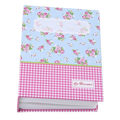 GUAngqi 50 Pages Vintage Floral Blooming Photo Album Book Image Scrapboo,Pink plaid (Blooming Pink Stationery)