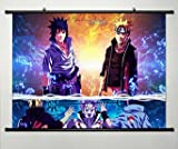 Anime Naruto Home Decor Wall Scroll Poster Fabric Painting Janpan Art Cosplay Uzumaki Naruto 23.6 x 17.7 Inches-609[A] Picture