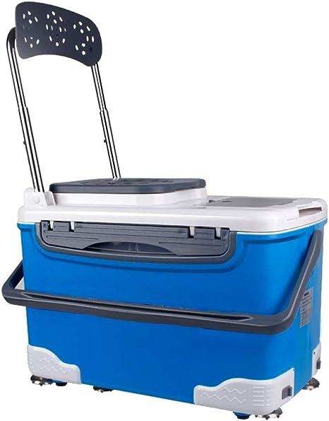 BYDBNR Caja De Pesca, Cubo De Pesca Multifunción Caja De Aparejos De Pesca Accesorios De Pesca Equipo De Pesca Almacenamiento Caja De Accesorios De Pesca (Color : Azul): Amazon.es: Deportes y aire