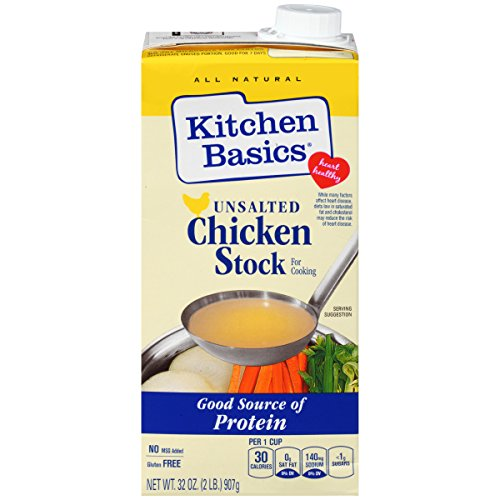 Kitchen Basics UnSalted Stock, Chicken, 32 Ounce (Pack of (Kitchen Basics Chicken Stock)