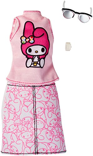 Barbie Fashions Hello Kitty Pink Top & Patterned - Sunglasses Mario Super