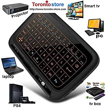 BFTECH Toronto-Store Mini Wireless Keyboard,H18+ Backlight Mini