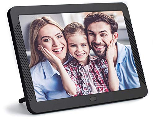 8 Inch Digital Photo Frame, NAPATEK Digital Picture Frame 1920x1080 IPS Display Electronic Picture Frame 1080P HD Video Playback with USB SD Port Music Calendar Alarm Remote Control -Black (Hd Picture Frame)