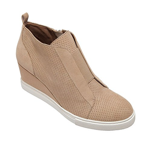 Linea Paolo Felicia | Platform Wedge Bootie Sneaker Light Pink Perforated Suede 12M ()
