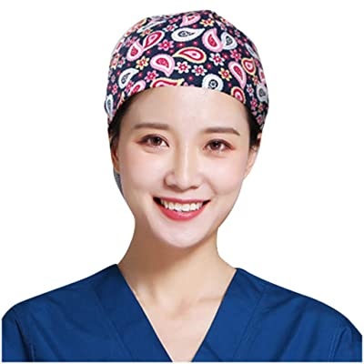 KYLEON Surgical Cap Scrub Hat Medical Bouffant Caps Sweatband Elastic Headwear Head Covers for Doctor Nurse Women Men: Clothing