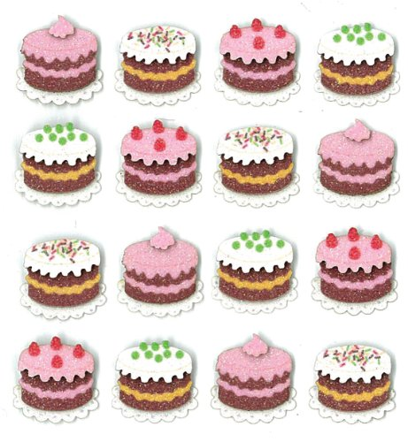 Jolee's Boutique Dimensional Stickers, Cake ()