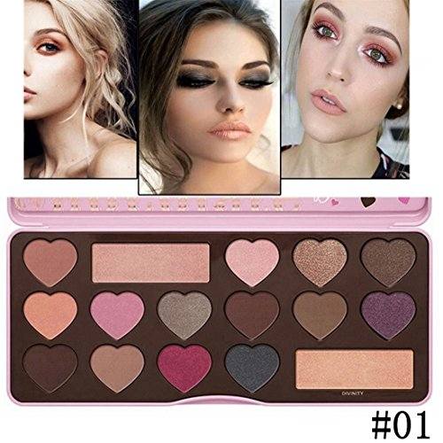 Best Pro Eyeshadow Palette Makeup - Matte + Shimmer 16 Color