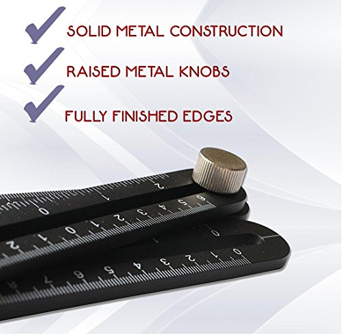 DMTOOLS PREMIUM Multi-Angle Measuring Ruler: Heavy Duty Aluminum Alloy | Angleizer Template Tool | Perfect gift for Carpenters, Roofers, Handymen, Craftsmen, Builders, Tilers | Precision Measurement by DMTOOLS (Image #2)