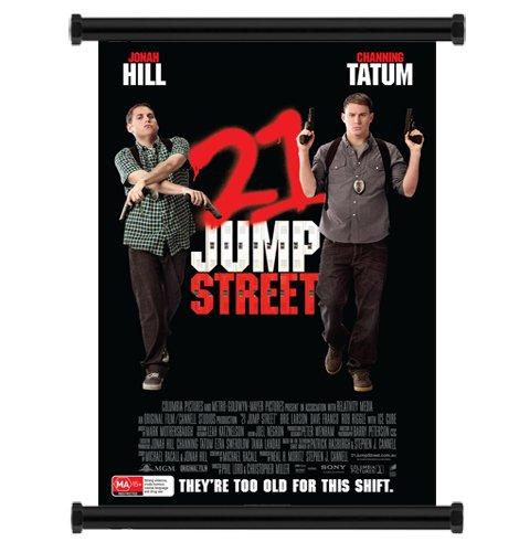 """21 Jump Street Movie 2012 Jonah Hill Channing Tatum Fabric Wall Scroll Poster (16"""" x 23"""") Inches"""