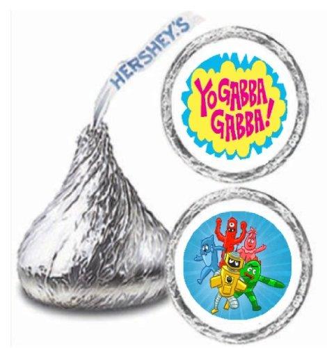 (216 Yo Gabba Gabba Hershey Kiss Stickers Labels Party)