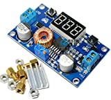 QIXINSTAR 2PCS 5A Adjustable Power DC-DC Step-down Charge Module LED Driver + Voltmeter