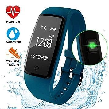 Fitness Tracker pulsera inteligente impermeable, gulaki ejercicio reloj con seguimiento de actividad dormir Monitor de