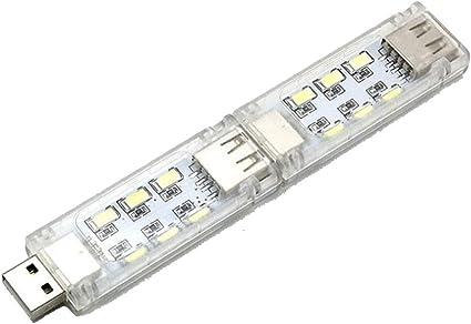 Amazon | 両面発光 USB LEDライト 昼白色USBライト 複数個のライトを ...