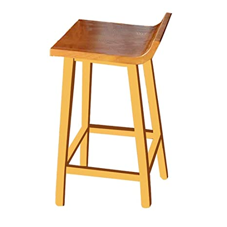 Surprising Amazon Com Solid Wood Bar Stool Simple Home Unadjustable Pabps2019 Chair Design Images Pabps2019Com