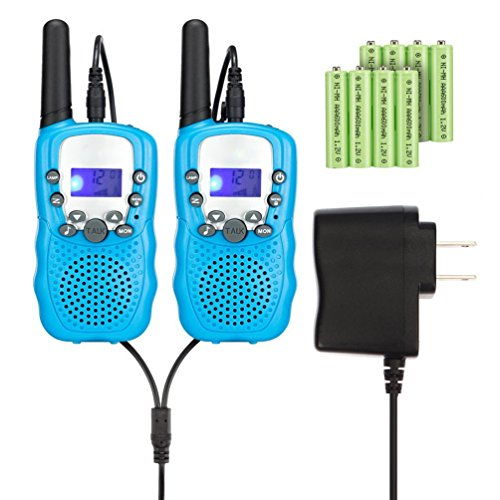 Read About Kids Walkie Talkies with Rechargeable Battery , 22 Channel FRS/GMRS Two Way Radio Up to3K...