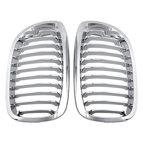 Compatible with 03-06 BMW E46 3 series 2 Door Coupe Cabriolet LCI CHROME Front Kidney Grille Grill