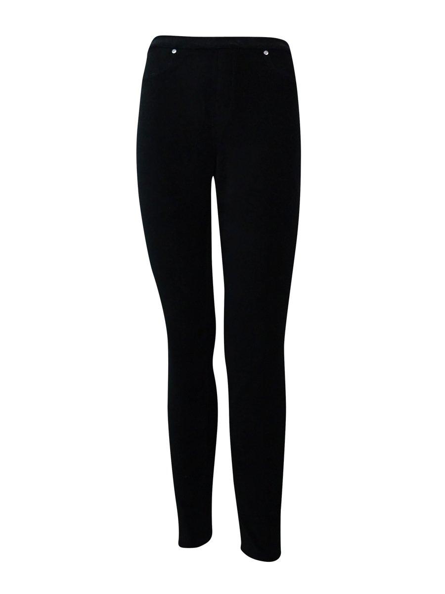 Style & co. Petite Pull-On Corduroy Leggings (Petite Petite, Deep Black)