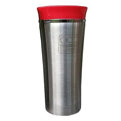 Vaso Termico - A Prueba de Fugas - 5 años de garantía - Un Clic, con una mano - Apto para lavavajillas travel mug - Vacuum-insulated acero inoxidable ...