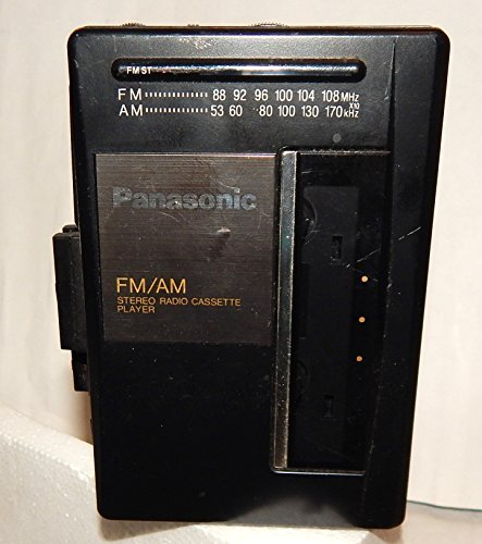 Panasonic Portable Cassette Player with AM FM Radio Model RQ