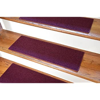 Carpet Stair Treads 23 Quot X 8 Quot Burgundy Set Of 13