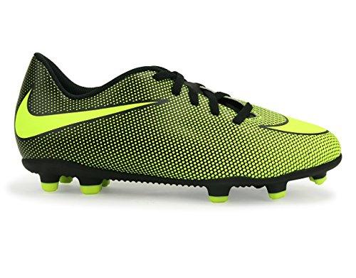 Nike Jr Bravata Ii Fg Black/Volt Soccer Shoes - 11C