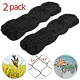 Yaheetech 50' X 50' Net Netting for Bird Poultry Aviary Game Pens,Black,2.4'' Square Mesh Size,2 pcs