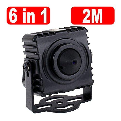 GW Security 6-in-1 AHD / TVI / CVI / CVBS / EX-SDI / HD-SDI 1080P 3.7mm Pinhole Lens Hidden Spy CCTV Security Camera, Square Case with - Square Camera Mini Security