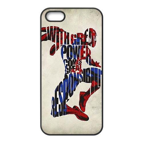 Pictures Of Spiderman 001 coque iPhone 5 5S Housse téléphone Noir de couverture de cas coque EEEXLKNBC18950
