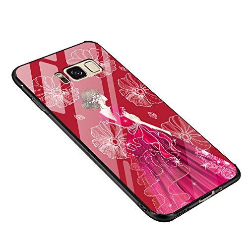 Tempered Glass Cover para Samsung Galaxy S8 Plus, Vandot 3D 9H Vidrio Cristal Templado + TPU Silicona Bumper Completo Borde Curvo Cubierta de la Caja Lujo Pintado Funda Protector para Samsung Galaxy S Glass 3 -14