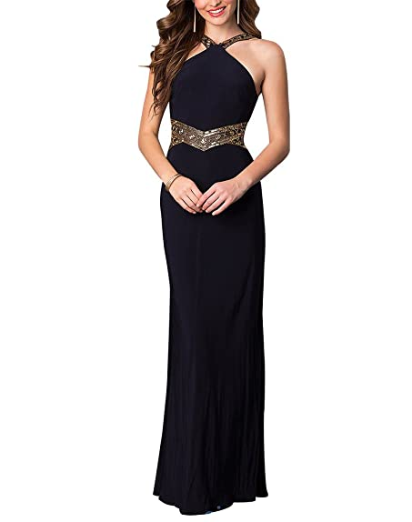DESHE Womens Hater Long Prom Dresses Evening Party Gowns US2