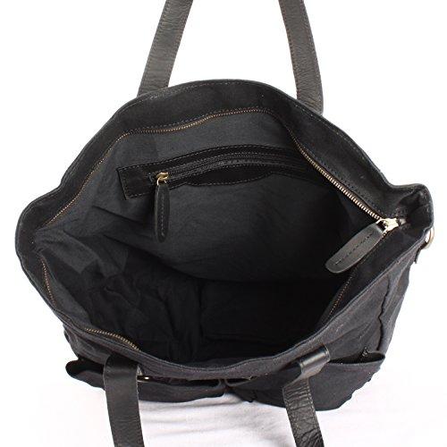 Sac Sac bandoulière et bagages en Sac à LECONI dentelle unisexe à à en XL en en Sac Grand sac bandoulière Weekender sac Style cuir toile Vintage Noir C à Sac à LE0040 bandoulière 35x39x20cm main tqYqzfw