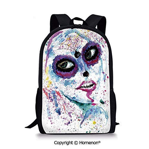 Blue Purple,design Boys Girls School Bag Rucksack Durable Bookbag Teens(17.3