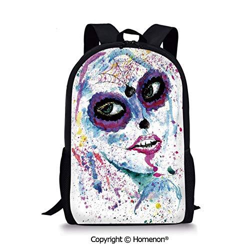 Blue Purple,design Boys Girls School Bag Rucksack Durable