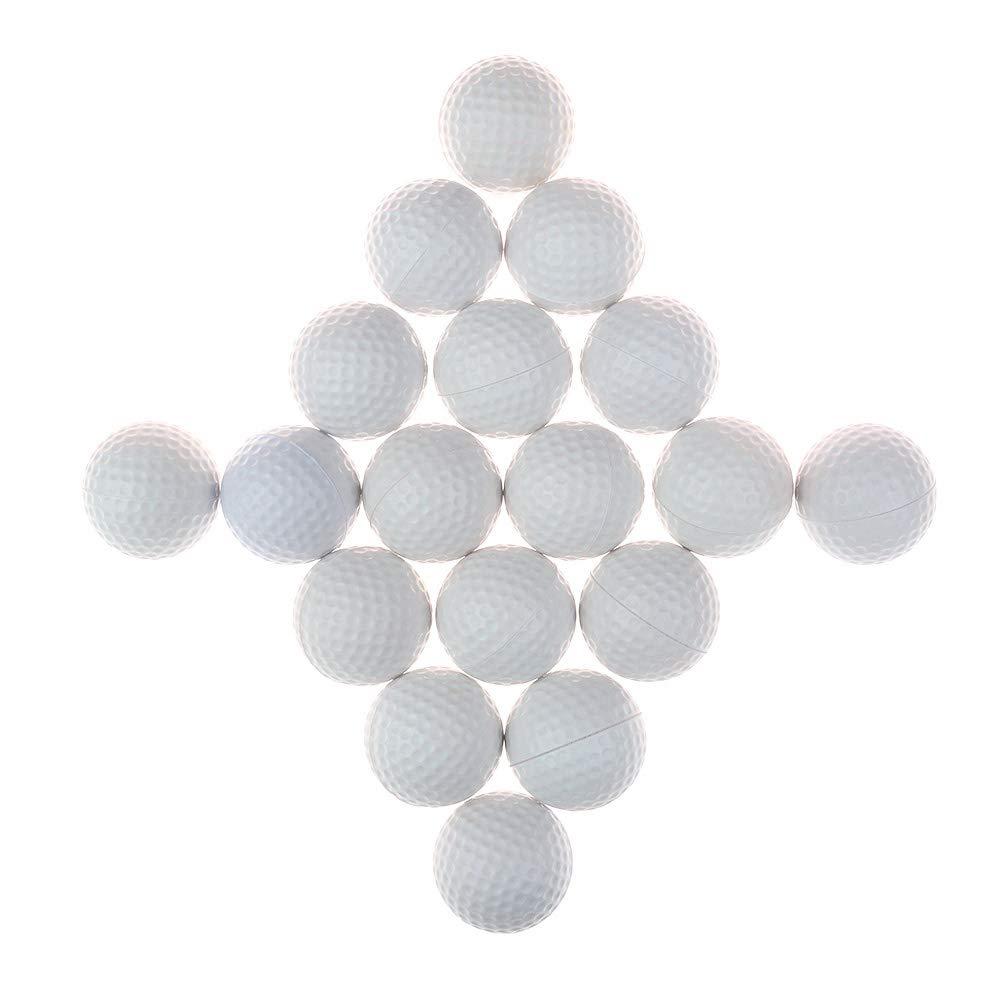 TBoxBo 練習用ゴルフボール 18個 ソフトディンプル 伸縮性 屋内 屋外 トレーニング ボール B07H4HS31D イエロー