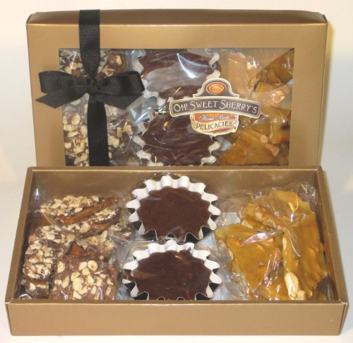 Oh! Sweet Sherry's - Almond Toffee, Chocolate Fudge & Peanut Brittle - Variety Gift Box Set - Gourmet Candy - 13 (Chocolate Sherry)