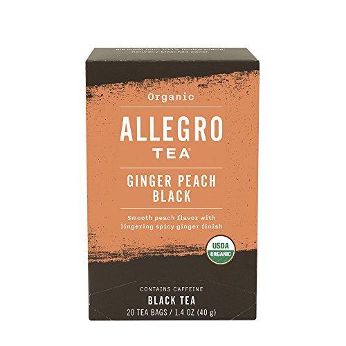 (Allegro Tea, Organic Ginger Peach Black Tea Bags, 20 ct)