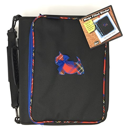 Tech Gear Mega Filled Binder, Plaid Scotty