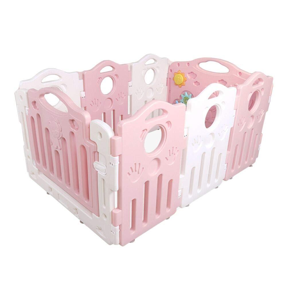 【再入荷!】 ベビーサークル 赤ちゃんのプレイペン子供の遊び場100ボールとマット、屋内滑り止めの子供の遊び場遊びペン(8パネル) (色 : (色 B07J2J1LC2 : Pink) Pink B07J2J1LC2, 【外部サイト】MUJI net store:dd6a13fc --- a0267596.xsph.ru