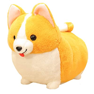 123Arts Cartoon Corgi Dog Soft Plush Throw Pillow Animal Pillow Plush Toy for Gift: Home & Kitchen