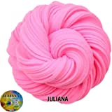 JULIANA Fluffy Stretchy Non Sticky Scented Baby Pink Slime Putty Toy (Pink- 50 GM)