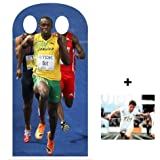*OLYMPIC PACK* Usain Bolt Olympic Stand-in Lifesize Cardboard Cutout / Standee / Standup - INCLUDES 8X10 (25X20CM) STAR PHOTO - FAN PACK