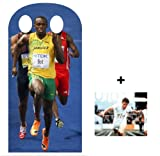 OLYMPIC PACK Usain Bolt Olympic Stand-in Lifesize Cardboard Cutout / Standee / Standup - INCLUDES 8X10 (25X20CM) STAR PHOTO - FAN PACK
