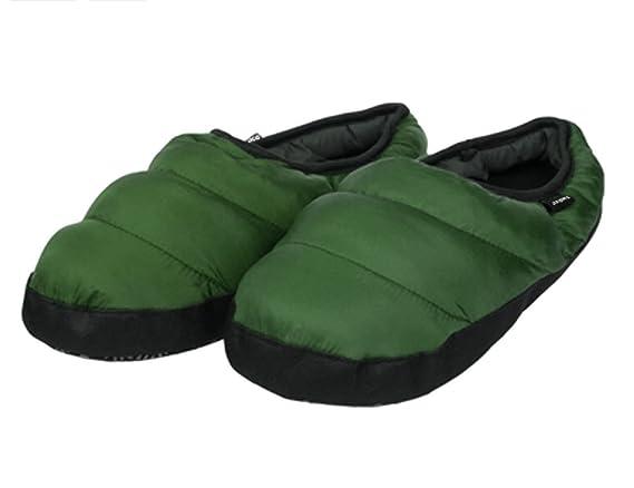Hombre/Mujer Pantuflas de interior pantufla chaleureux pantufla invierno impermeable antideslizante zapatos suave de peluche confortable y ligero, verde, ...